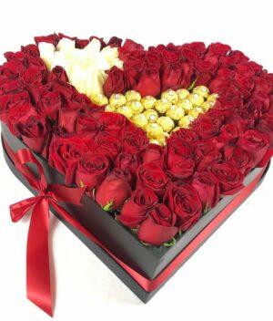 Amor eterno en Puebla, Arreglo de flores, Florerías en Puebla, Flores a domicilio Puebla