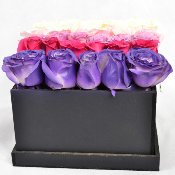 Colores de amor en Puebla, Caja de rosas pastel, Florerías en Puebla, Flores a domicilio Puebla
