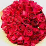 Diamante grande - Ramo de rosas rojas