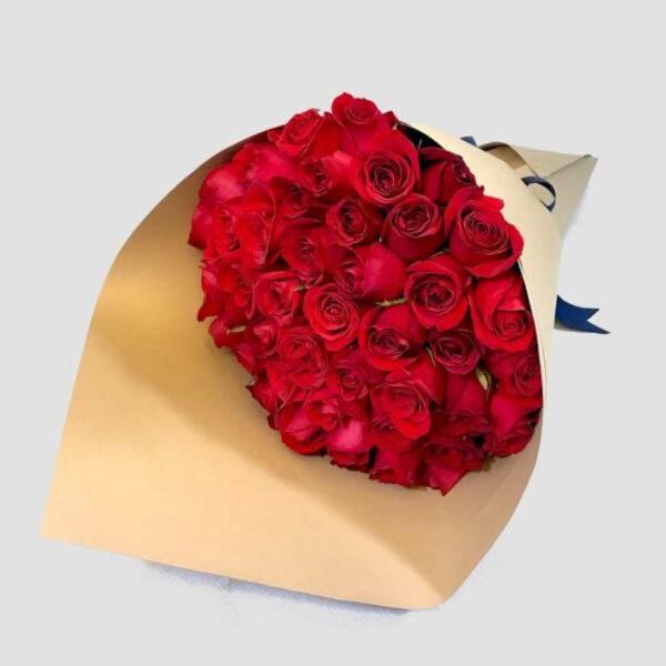 Diamante grande en Puebla, Ramo de rosas rojas,  Florerías en Puebla, Flores a domicilio Puebla