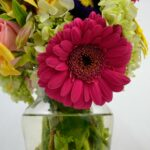 Flores del corazón - jarrón de flores