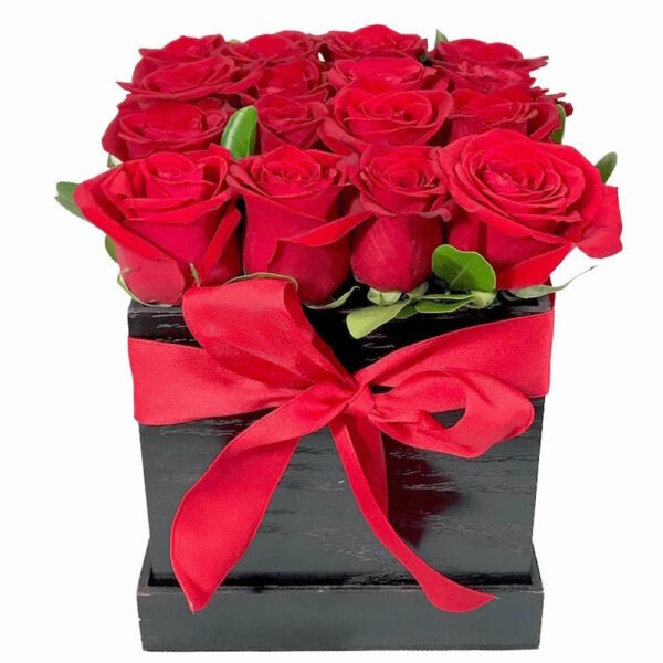 Nuestro secreto en Puebla, caja de rosas rojas, Florerías en Puebla, Flores a domicilio Puebla
