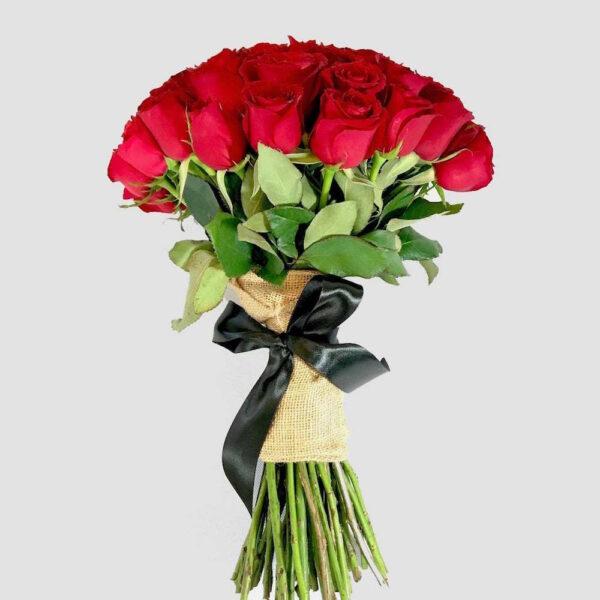 Pasión eterna en Puebla, Ramo de rosas rojas,  Florerías en Puebla, Flores a domicilio Puebla