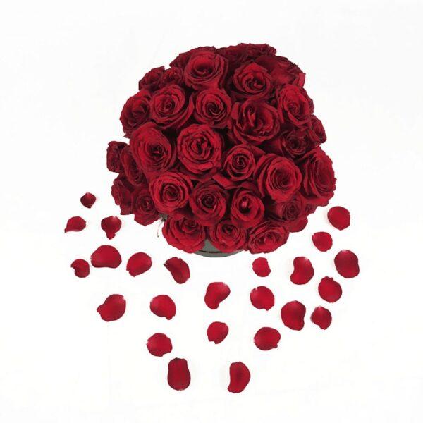 Secretos de amor en Puebla, Caja de rosas mediana, Florerías en Puebla, Flores a domicilio Puebla