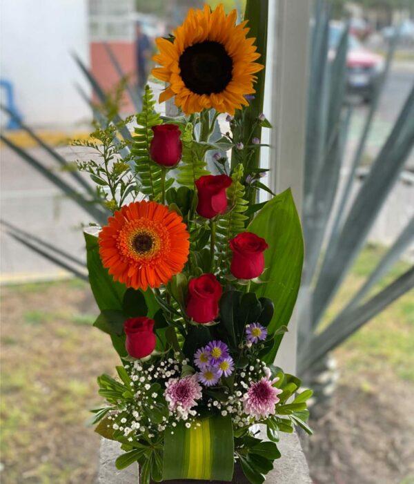 Un detalle, arreglo de flores en Puebla, arreglo de flores, florerías en Puebla