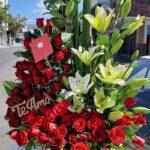 Canasta de flores y rosas Querétaro, Florerías en Querétaro, Flores a domicilio Querétaro