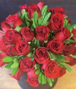 Serenidad, Caja de rosas rojas en Puebla, Caja de rosas, florerías en Puebla