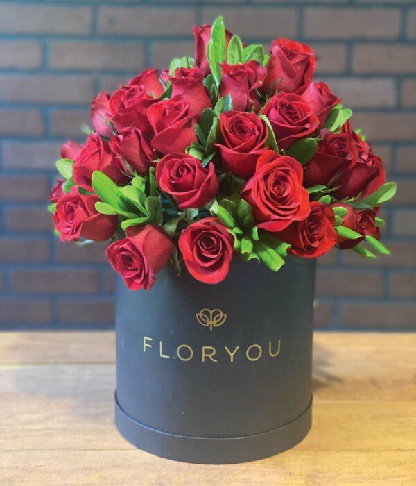 Serenidad, Caja con rosas en Puebla, Caja de rosas, florerías en Puebla