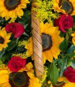 Campo de soles, Canasta de flores en Puebla, Canasta de flores, florerías en Puebla