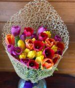 Tulipø, Jarron de 30 Tulipanes en Puebla, Jarron de Tulipanes, florerías en Puebla