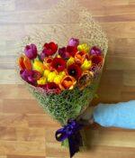 Beso holandés, Ramo de 30 Tulipanes en Puebla, Ramo de Tulipanes, florerías en Puebla