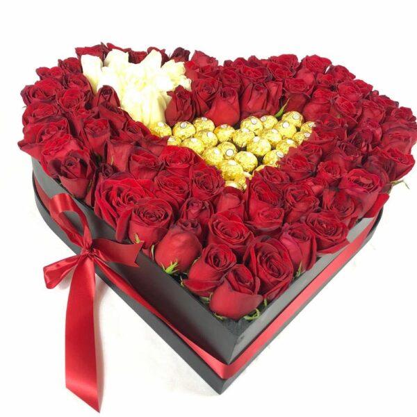 Amor eterno, Caja de flores Querétaro, Florerías en Querétaro, Flores a domicilio Querétaro