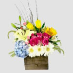 Arreglo de flores y tulipanes Querétaro, Florerías en Querétaro, Flores a domicilio Querétaro