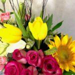 Amor rústico - Arreglo con tulipanes