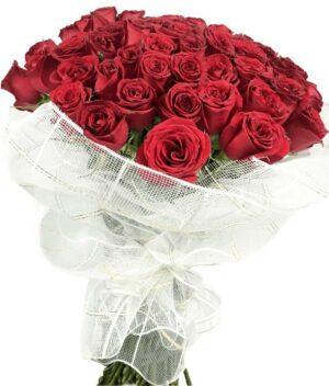 Besos apasionados, Ramo de rosas Querétaro, Florerías en Querétaro, Flores a domicilio Querétaro