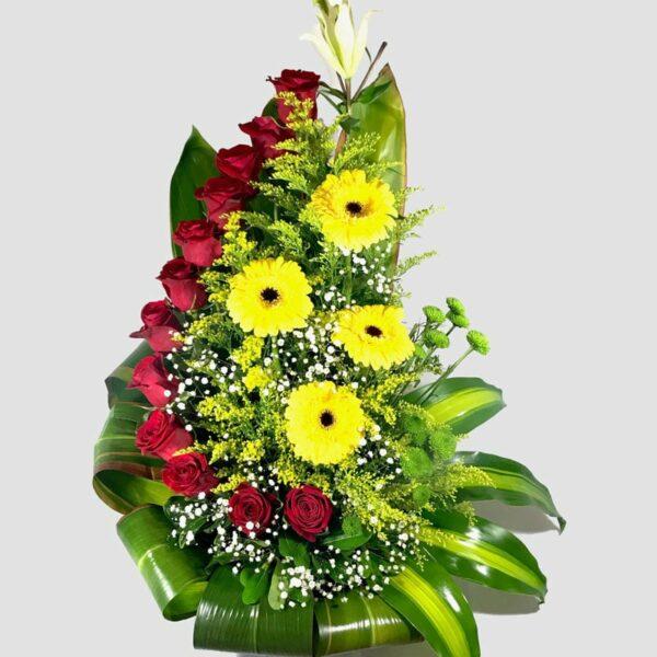 Camino a ti, Arreglo de rosas y gerberas Querétaro, Florerías en Querétaro, Flores a domicilio Querétaro