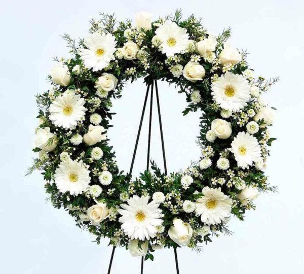 Camino de Paz, Corona de flores fúnebre Querétaro, Florerías en Querétaro, Flores a domicilio Querétaro