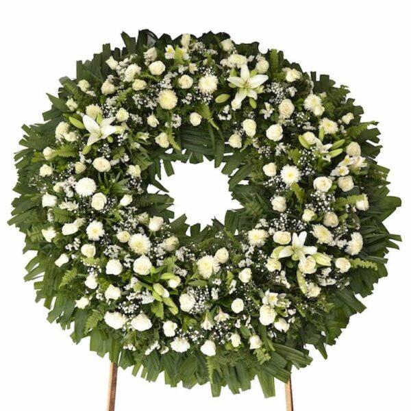 Corona de flores fúnebre Querétaro, Florerías en Querétaro, Flores a domicilio Querétaro