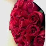 Diamante - Ramo de rosas rojas