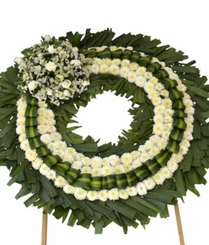 Dobleces, Corona de flores fúnebre Querétaro, Florerías en Querétaro, Flores a domicilio Querétaro