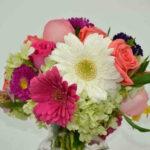 Flores del corazón - Rosas, gerberas, hortensias