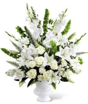 Memorias de un mar, Arreglo de flores fúnebre Querétaro, Florerías en Querétaro, Flores a domicilio Querétaro