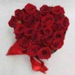 Murmuro de amor - Caja de rosas en forma de corazón