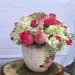 París con amor - Arreglo vintage con rosas
