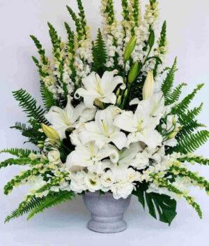 Puerta del cielo, Arreglo de flores fúnebre Querétaro, Florerías en Querétaro, Flores a domicilio Querétaro