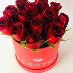 Rojo corazón - Caja de rosas
