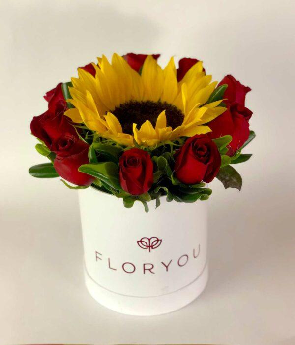 Rojo corazón, caja de rosas en Querétaro, caja de rosas, florerías en Querétaro