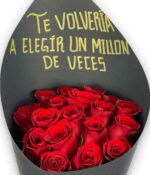 Un millón de veces, bouquet de rosas en Querétaro, bouquet de rosas, florerías en Querétaro