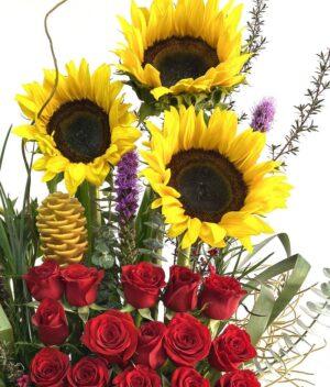 Explosión de estrellas, arreglo de flores en Querétaro, arreglo de flores, florerías en Querétaro