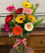 Flores del campo, Jarron con gerberas en Querétaro, Jarron con gerberas, florerías en Querétaro