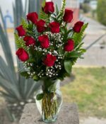Mi mundo, jarron de rosas en Querétaro, jarron de rosas, florerías en Querétaro