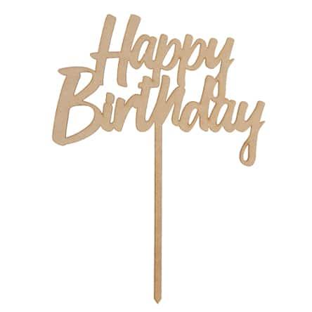 """Letrero de """"Happy Birthday o Felicidades"""""""