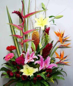 arreglo de flores grande - arreglo de flores tropical