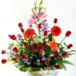 Arreglo de flores en canasta, florerias en Pachuca, Envío de flores a domicilio Pachuca