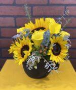 arreglo de flores con girasoles - florerias en Pachuca, Envío de flores a domicilio Pachuca