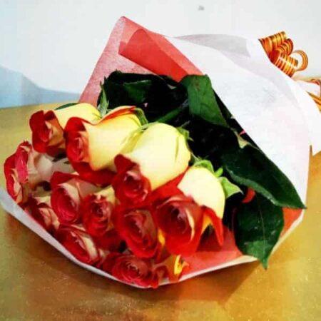 Docena de rosas amarillas