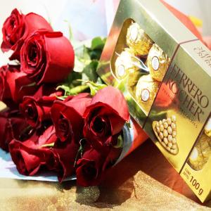 Docena de Rosas Rojas + Chocolates
