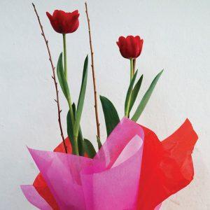 """Arreglos Florales """"Tulipanes Rojos"""""""
