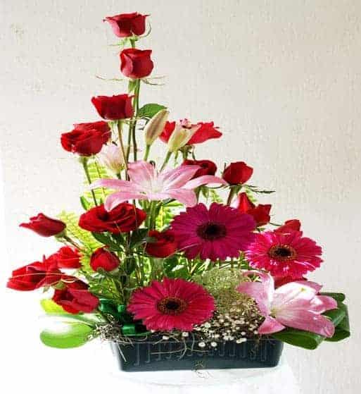Arreglo de flores con rosas, florerias en Pachuca, Envío de flores a domicilio Pachuca