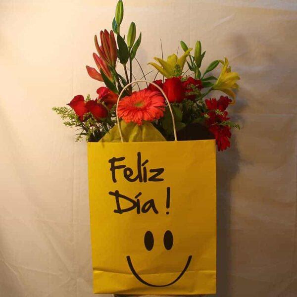 Bolsa con flores, florerias en Pachuca, Envío de flores a domicilio Pachuca