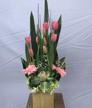 Arreglo de tulipanes,