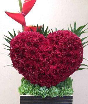 Corazón de flores, florerias en Pachuca, Envío de flores a domicilio Pachuca