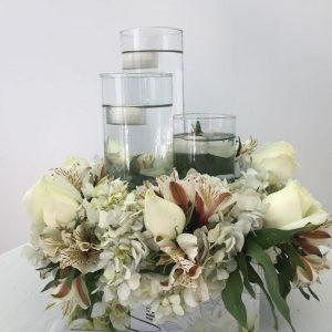 Escalera floral - centros de mesa para bodas pachuca