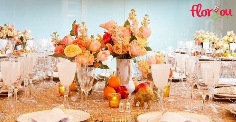 Centros de mesa para bodas en Pachuca - Florerías en Pachuca - Floryou