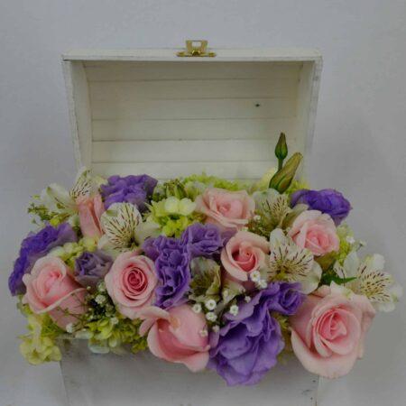 Cofre de flores, florerias en Pachuca, Envío de flores a domicilio Pachuca