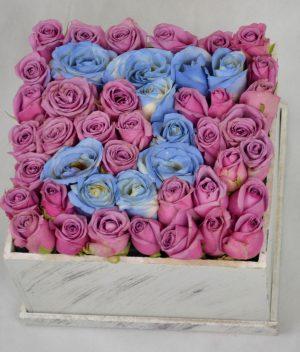 Caja de rosas, florerias en Pachuca, Envío de flores a domicilio Pachuca